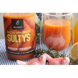 """Natūralios obuolių, morkų sultys """"MANA"""" 750 ml"""